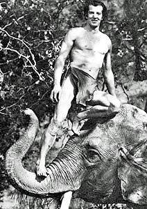 Herman Brix, aka Bruce Bennett, as Tarzan